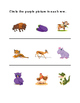 Circle Orange Green Purple Pictures Draw Color House Pet Animals Activity 4pages