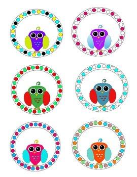 Circle Owl Labels