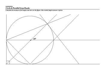 Circle & Parallel Lines Puzzle