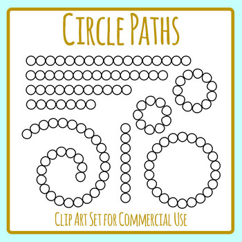 Circle Paths For Games Etc Clip Art Set for Commercial Use