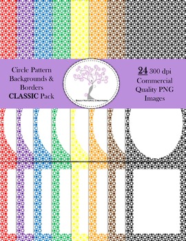 Circle Pattern Backgrounds and Borders Classic Pack (24 PN