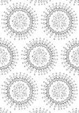 Circle Pattern Spring Coloring Page Printable