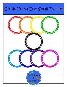 Circle Polka Dot Small Frames