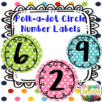 Circle Polka dot number labels 1-50