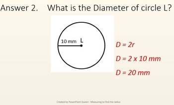 Circle - PowerPoint - How to Calculate the Radius Plus Worksheet