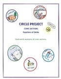 Graphing Circles Project -  Algebra 2 Real World Examples