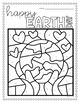 Circle Properties Geometry EARTH DAY Coloring Activity
