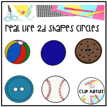 Circle Real Life Objects 2D Shapes Clip Art