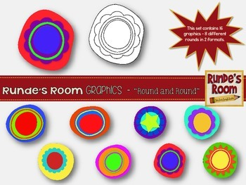 Circle Rounds Clip Art - Round and Round!