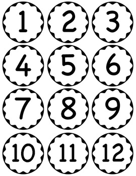 Circle Scalloped Numbers