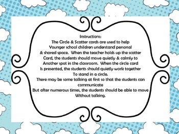 Classroom Management Circle & Scatter Cards