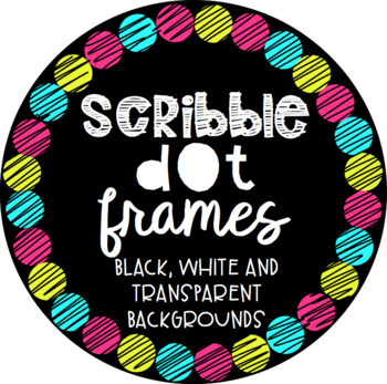 Circle Scribble Dot Frames {Educlips Clipart}