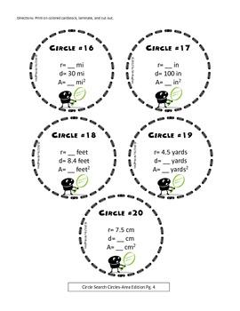 Area {Circle Search Game}