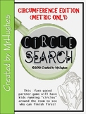 Circumference {Circle Search Game} - METRIC ONLY