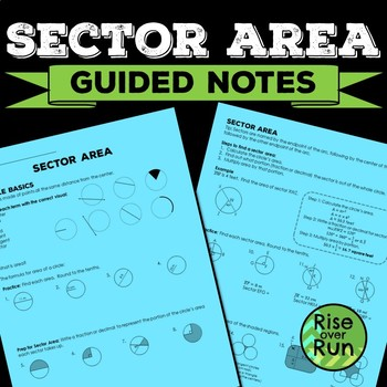 Circle Sector Area Interactive Scaffolded Notes