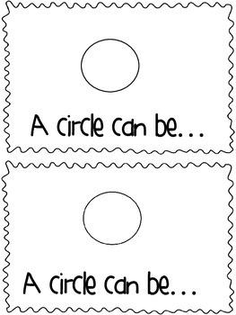Circle Shape Book: A circle can be