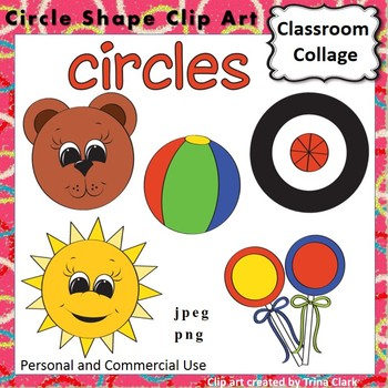 Circle Shape Clip Art - Color - personal & commercial use geometry
