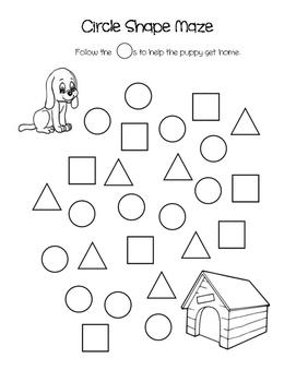 Circle Triangle Square Shape Maze