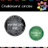 Circle-Shaped Chalkboard [Back to School]