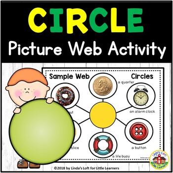 Circle Shape Picture Web Activity for Preschool