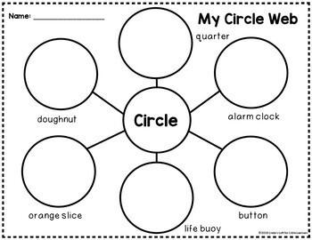Circle Shape Picture Web Activity for Preschool | TpT