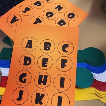 Circle Shelf Marker Alphabet