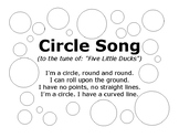 Circle Song with Outlined Circles to Color In