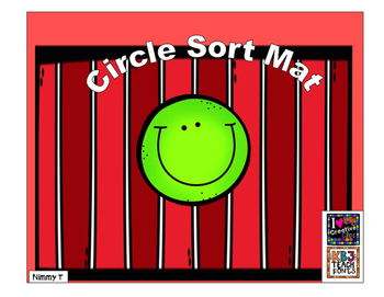 Circle Sorting Mat with shapes
