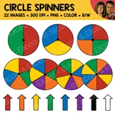 Circle Spinners Clipart