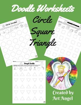 Circle, Square & Triangle Doodles