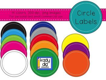 Circle, Square, Ribbon Label BUNDLE