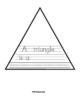 Shapes: Circle, Square, Triangle, Rectangle Writing Pre-K, TK , K, 1st. Sp. Ed.
