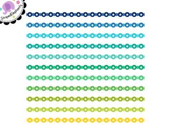 Circle Star Digital Ribbons