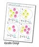 Circle Sticker Addition - Interactive Addition Practice