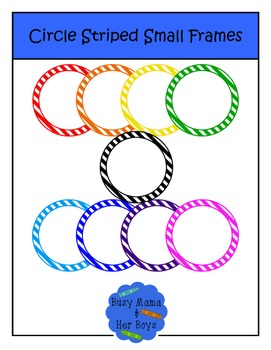 Circle Striped Small Frames