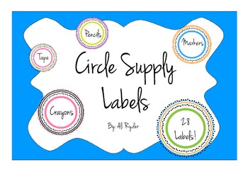 Circle Supply Labels