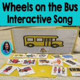 Wheels on the Bus: Interactive Adapted  Song Card: Choice