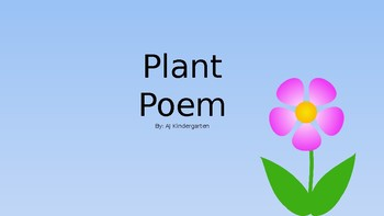 Circle Time Spring Plant Poem with Counting and Vocabulary Practice