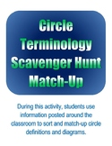 Circle Terminology Scavenger Hunt Match-Up