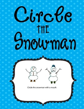 Circle The Snowman  Visual Discrimination and Sight Word Reading