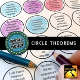 Circle Theorems: Always, Sometimes, or Never