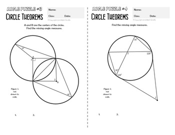 circle theorems angle puzzles by math giraffe tpt. Black Bedroom Furniture Sets. Home Design Ideas