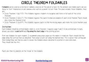 Circle Theorems (Foldable)