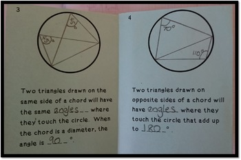 FREE Circle Theorems Foldable