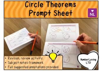 Circle Theorems (Prompt Sheet)