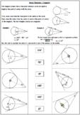 Circle Theorems Review Worksheets.