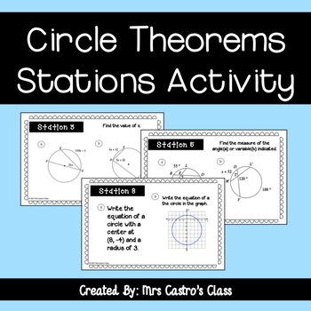 Geometry Circle Theorems - Stations Activity