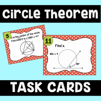 Circle Theorems Task Cards