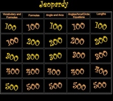 Circle Theorems and Postulates Jeopardy Review