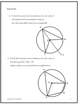 Circle Theorems with detailed solutions